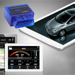 Wholesale Launch Scanning Tools - New Universal ELM327 Bluetooth OBD2 Car Auto Diagnostic Scanner OBDII interface scan tool For Android 2.1 for DOS for Windows