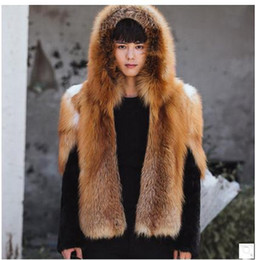 Wholesale Fox Clothing Men - Wholesale- Xs 4Xl Male Hooded Man-Made Fox Fur Jackets Casaco Pele Homem Patchwork Casual Large Size Male Faux Fur Overcoats Clothes Cj63