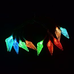 Wholesale ocean wedding decorations - Wholesale- LED Holiday String Light Christmas Wedding Party Festival Twinkle Decoration Ocean Style Lamp Bulb New