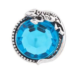 Collares de gecko online-NSB2284 Botón de la joyería de la broche caliente de la venta para el collar de la pulsera 2015 joyería de la manera DIY Crystal Snaps Botones antiguos de Gecko