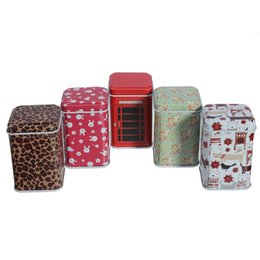 Wholesale Mini Caddy - Girls Favor Cute Trinket Mini Small Metal Tin Jewelry Iron Box Square Candy Coin Storage Lidded Caddy Series Simply