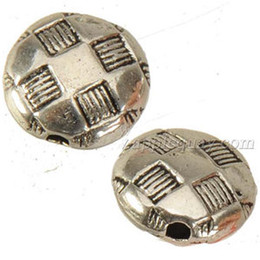 football holidays 2018 - jewelry components flat beads wholesales free ship bracelets diy necklaces making round football star metal vintage silver fashion 200pcs