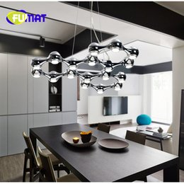 Wholesale Led Bar 18 - FUMAT 10 18 Lights Nodric Art Dining Room Led Pendant Light Stainless Steel Special Design Bar Counter Bedroom Light