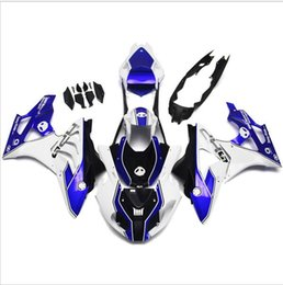 Wholesale Plastic Mold Cover - Complete cladding for BMW S1000RR 11 12 13 14 injection of ABS plastic fairings kit hoods HP4 white blue alien covers