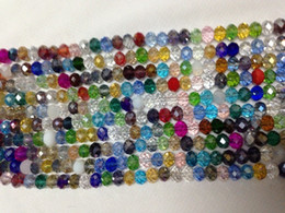 Wholesale Crystal Cube Beads 6mm - Wholesale 1000pc 4 * 6mm Colorful Crystal Gemstone Loose Beads
