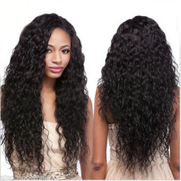 Wholesale Glueless Full Lace Wigs Dhl - New style brazilian lace front wigs water wave glueless fulll ace wigs human hair wigs 130%density DHL free shipping