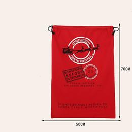 Wholesale Santa Claus Ship - 2015 New Santa Sacks good quality Christmas supplies Santa Claus bag gift bag with 3 design free shipping