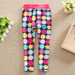 Wholesale Girls Warm Trousers - New 2016 Autumn Winter Baby Girls Leggings Kids Vintage Floral Plus Velvet Thick Legging Children's Casual warm Trousers 2 Colo