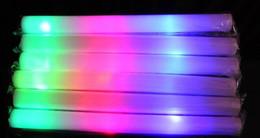 Wholesale Led Flashing Foam Glow Stick - Festive Led Foam Sticks Foam Glow Stick Flashing Sticks Flashing Concerts LED Cheer Props LED Glow Foam Stick Festivals Christmas