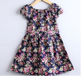 Wholesale Tutu Free Shipping - Baby Dress Kids Clothing Kids Floral Dress Fashion Flower Clothing 4 Colors 5 P l free shipping