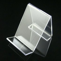 Wholesale Cell Phone Racks - free shipping 50pcs lot acrylic cell phone mobile phone display stand shelf holder rack new arrival