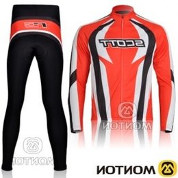 Wholesale Mens Cycling Tights Long - 2015 Scott Mens Thermal Fleece Quick-dry Base Layer Under Wear Cycling Bike Long Sleeve Jersey Tight Pants Winter Sports clothing