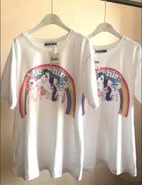 Wholesale Rainbow Pony - HOT RAINBOW PONY PRINTING MEN AND WOMEN T-SHIRT