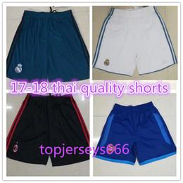 Wholesale Short Soccer Real Madrid - Europe size thai quality shorts 17 18 Real Madrid AC Milan soccer shorts 2017 2018 inter DYBALA home away 3rd football shorts
