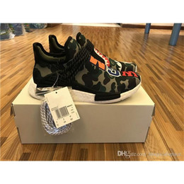 Wholesale Shark Rubber - Human Race HU NMD X Shark WGM Man Women Running Shoes Original Quality Come With Original Box And Other Shoelace