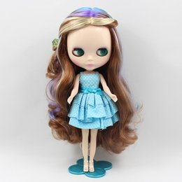 Wholesale Hair Colour 12 - Wholesale- blyth doll normal body, colour hair like the rainbow without bangs , factory blyth girl doll Child gift