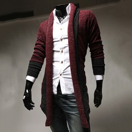 Wholesale Shawl Collar Cashmere Sweater - 1601 Free Shipping Mens Shawl Collar Cardigan Sweater korean version Slim Fit Long Sleeve Knitting Solid Casual Knitwear