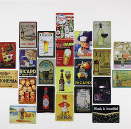 Wholesale Modern Cm - 30*20 cm Beer Wine Vintage Metal Painting Tin Sign Bar Pub Home Wall Retro Mural Poster Home Decor Craft
