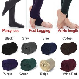 Wholesale Thick Winter Tights Women - 2017 Fleece Leggings Warm Winter Faux Velvet lined Legging Knitted Thick Slim Leggings Tights Super Elastic pantyhose 3 style z900
