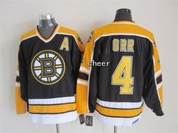 Wholesale Low Price Throwback Jerseys - 2016 Newest- Wholesale Men's Boston Bruins #4 orr black Throwback Jersey Ice Hockey Jerseys,Best Quality,Low Price