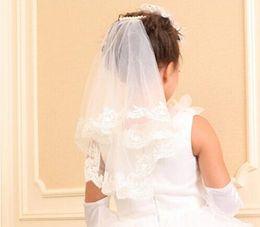 Wholesale Stocking Net Flowers - 2015#V001 New Twig&Honeys Imitation Tulle Bridal Veil in Stock Vintage Custom Size Wedding Accessories Flower Girl Veils