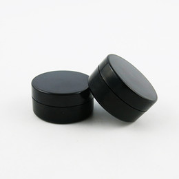 Wholesale Cosmetic Containers Sifters - 100 x 10G Cosmetic Sifter jars Pot Box Makeup Nail Art Cosmetic Bead Storage Container Round Bottle Black Portable Cream Jar