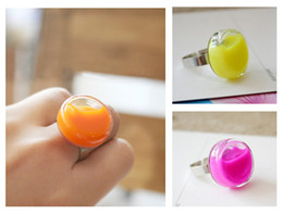 Wholesale Custom Size Glass - Silver Plated Copper Clear Glass Locket Rings Custom Colorful Liquid floating Charms ring mix band size mix color on sale