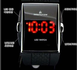 Wholesale Led Rubber Band Watch - Hot Sale LED Digital Mens Watch Comfortable PU Band Easy Used Sport Watches for Men