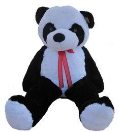 """Brinquedo material panda gigante on-line-Gigante Enorme Grande 63 """"Panda Urso De Pelúcia Animais De Pelúcia Brinquedo boneca de Presente de Aniversário de Xmas"""