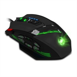 Wholesale New Gaming Mouse - Wholesale-Hot selling New! Fashion Zelotes C-12 Programmable Buttons LED Optical USB Gaming Mouse Mice 4000 DPI 1pc