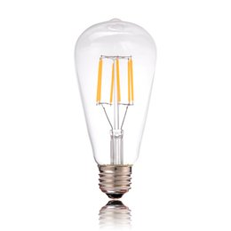 Wholesale Edison Industrial - ST64 4W 6W 2200k CRI>80 Dimmable Edison Tungsten Filament Vintage Antique Industrial LED Bulb Light110V 220V