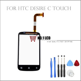 Wholesale Desire C - Wholesale-100% Original Touch Screen For HTC Desire C A320e Touch Screen Digitizer Glass Replacement+Free Tools