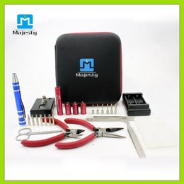 Wholesale Complete Diy - Majesty diy kit is The most complete kit diy tool coil winder ceramic tweezer Concepts Atomizer coil