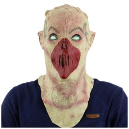 Wholesale Haunted House Masks - Alien no mouth shaped nausea horror haunted ghost house secret room escaped dress up scary mask
