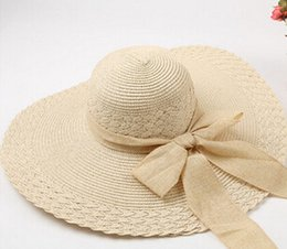 Wholesale Ultraviolet Rays Sun - Wholesale-Exquisite design anti Ultraviolet rays hat for women summer fashion wide hat pure elegant sun hat casual outdoor beach hat