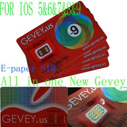 Wholesale Gevey 4g - New Gevey unlock Sim Card E-paper Sim unlocking iOS 5 6 7 8 9 ios9.1 Gevey.US unlocking for iPhone 4s 5s 6 6plus 6S 4G 3G WCDMA CDMA GSM ..
