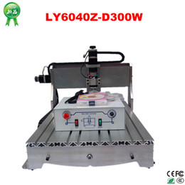 Wholesale Cheap Wood Carvings - Free shipping! 3 axis Cheap cnc wood carving machine LY6040Z-D300 engraver router with ball screw, upgraded from CNC router 6040