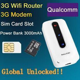 Wholesale Huawei Wifi Modem Unlocked - 3G 4G Mifi  Wifi Wireless Routers Modem wIth SIM Slot Unlocked Hotspot 3000mAh Portable Charge Power Bank PK Huawei E5331