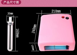 Wholesale Nail Systems Uv Gel - high quality Nail care system 36W UV Nail Art Gel Curing Polish Light Dryer + 4 Tube Lamp