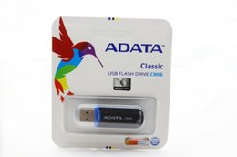 Wholesale Memory Pen Drives - NEW 2018 ADATA C906 64GB 128GB USB 2.0 Flash Memory GIFT Pen Drive Stick Drives Sticks Pendrives good Thumbdrive Disk 30pcs lot