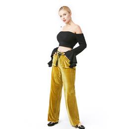 Ropa de otoño oliva online-Jardín de belleza ropa de mujer pantalones de fitness ropa de invierno oliva Greent Soid Casual Primavera Otoño Cordón de bolsillo de moda pantalón medio