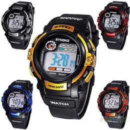 Wholesale Sports Watches Mix Colors - 2015 New Wrist Men Watches LED Digital Sports Watches students watches Waterproof Mix Colors 10pcs