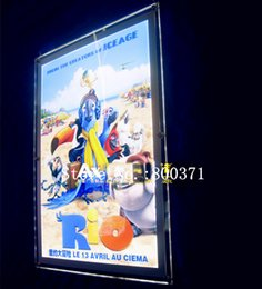 "Wholesale Wholesale Poster Led Lights - 24""X36"" Acrylic Movie Poster frame Light Box Home Theater LED Illuminated Sign"