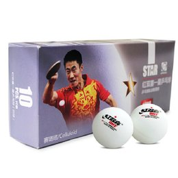 Wholesale dhs ball star - Wholesale- 30x DHS 1-Star Celluloid White Pingpong Balls