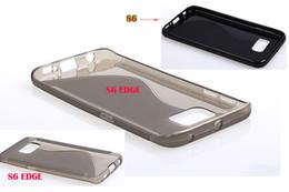 Wholesale S Shape Phone Cases - S line Grip Wave shape Soft TPU Gel Rubber Colorful skin Phone cover case cases For Samsung Galaxy S6 EDGE Plus EDGE+ 200pcs 500pcs