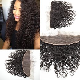 Wholesale Deep Curl Peruvian Hair - beyonce curl deep curly wave virgin human hair lace frontal 100% Non processed top closure G-EASY
