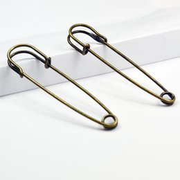 Wholesale Wholesale Safety Pins - Free shipping,75mm large kilt pin,safety pin, 250pcs lot,two colors assorted