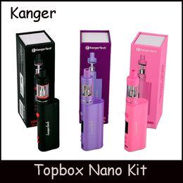 Wholesale Electronic Refills - Black Pink Purple Kanger Topbox Nano TC Kit 60W Temperature Control Kits with Top Refilling Totank Nano Electronic Cigarettes Kit