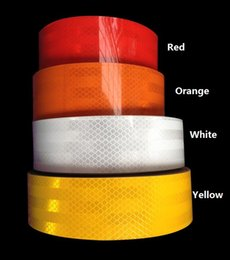 Wholesale White Reflective Tape - 5cm*20m High visibility truck car motorcycle van traffic signal reflective sticker tape white and red reflective warning tape
