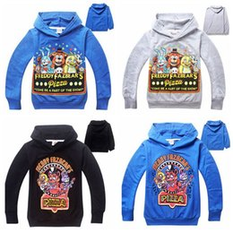 Wholesale Kids Bear Hoodie - Five Nights At Freddy's hoodies for kids Teddy Bear hoodies Outwear Five Nights at Freddys Bear sweatershirts Xmas gift for kids D45 10pcs